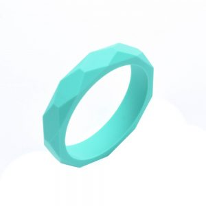 Silicone Teething Bangle Turquoise