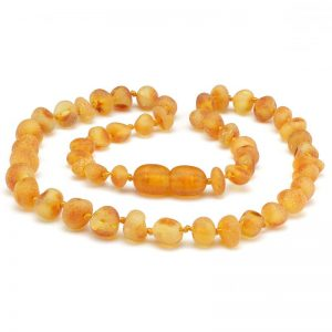 Amber Necklace baby teething honey raw