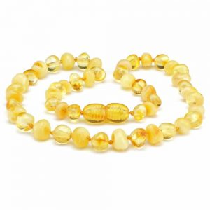 Amber NECKLACE Baby Butterscotch & Lemon | 32cm