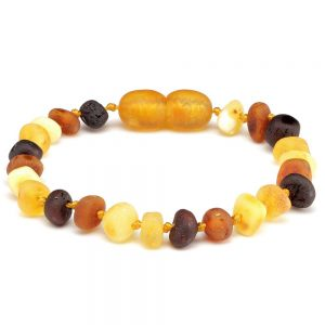 Amber bracelet raw multi dark