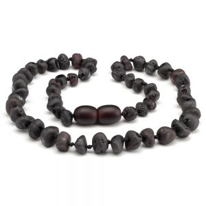 Amber NECKLACE Baby Cherry RAW | 32cm